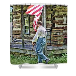 Soldier At Bedford Village Pa Shower Curtain by Kathy Churchman