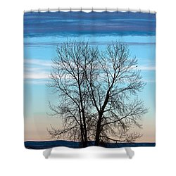 Soldier Creek Sunset Shower Curtain