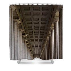 Soldier Field Colonnade Shower Curtain by Steve Gadomski