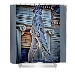 Soldier Statue Hdr Alabama State Capitol Shower Curtain by Lesa Fine