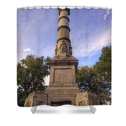 Soldiers And Sailors Monument - Boston Shower Curtain by Joann Vitali