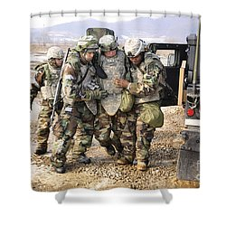 Soldiers Conduct Medical Evacuation Shower Curtain by Stocktrek Images
