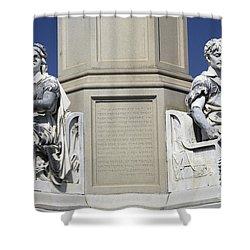 Soldiers Monument Detail Shower Curtain by Paul W Faust -  Impressions of Light