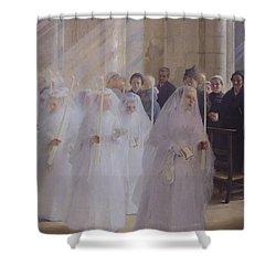 Solemn Communion Shower Curtain