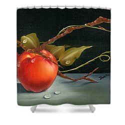 Solitary Apples Shower Curtain