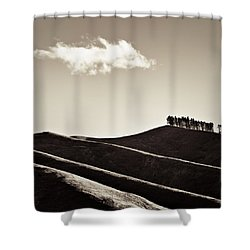 Solitary Cloud Shower Curtain by Dave Bowman