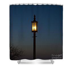 Solitary Gas Light Shower Curtain by Tim Mulina