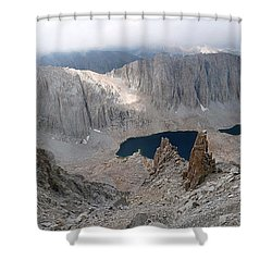 Solitary Hiker Panorama Shower Curtain