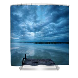 Solitary Pier Shower Curtain