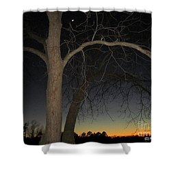 Solitude At Dusk Shower Curtain