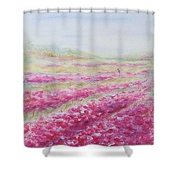 Shower Curtain featuring the painting Solitude by Jane  See