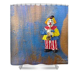 Solo Clown Musician Shower Curtain