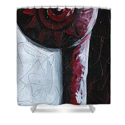 Shower Curtain featuring the painting Solo Indian by Lance Headlee