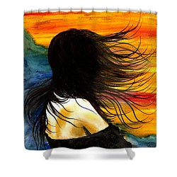 Solo Mood Shower Curtain