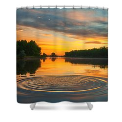 Solstice Ripples Shower Curtain