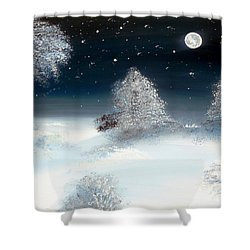 Solstice Snowfall I Shower Curtain by Alys Caviness-Gober