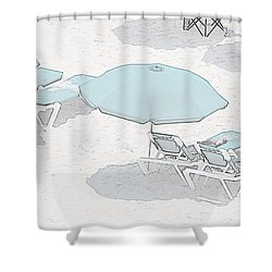 Shower Curtain featuring the photograph Some Beach        Somewhere by Susan  McMenamin