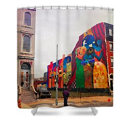 Some Color In Philly Shower Curtain