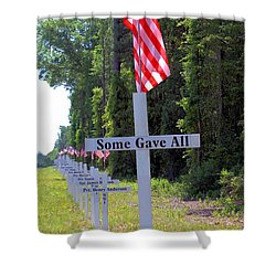 Shower Curtain featuring the photograph Some Gave All by Gordon Elwell
