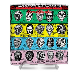 Shower Curtain featuring the digital art Some Ghouls by Sasha Alexandre Keen