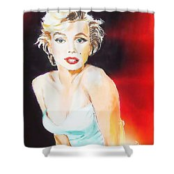 Shower Curtain featuring the painting Some Like It Red Hot by Judy Kay