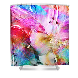 Somebody's Smiling - Abstract Art Shower Curtain by Jaison Cianelli