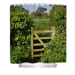Somerset Countryside Gate Uk Shower Curtain by Rene Triay Photography