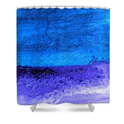 Something Blue Shower Curtain by Andrea Anderegg