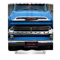 Something Bout A Truck Shower Curtain by Laurie Perry