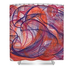 Something Larger Shower Curtain by Kelly K H B