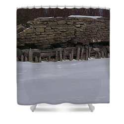 John Hinker's Coal Dock. Shower Curtain by Jonathon Hansen