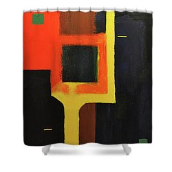 Something To Do With Light Shower Curtain by Kimberly Maxwell Grantier