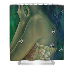 Sometimes I Feel So Temporary... Shower Curtain by Dorina  Costras