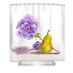 Shower Curtain featuring the painting Sometimes Love Hurts by Paula Ayers