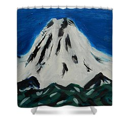 Somewhere Rainier Shower Curtain