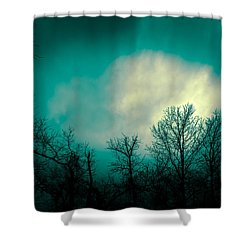 Somewhere Between Here And There Shower Curtain by Bob Orsillo