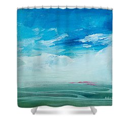 Somewhere Beyond The Sea Shower Curtain by Lee Beuther