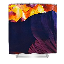 Shower Curtain featuring the photograph Somewhere In America Series - Antelope Canyon by Lilia D