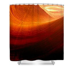 Shower Curtain featuring the photograph Somewhere In America Series - Red Waves In Antelope Canyon by Lilia D