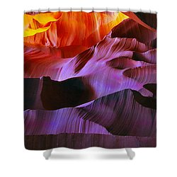 Shower Curtain featuring the photograph Somewhere In America Series - Transition Of The Colors In Antelope Canyon by Lilia D