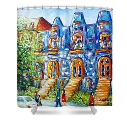 Somewhere In Montreal - Cityscape Shower Curtain