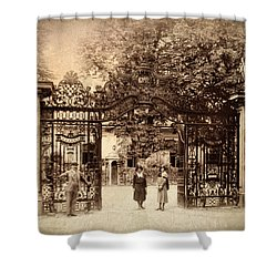 Somewhere In Time Shower Curtain by Jessica Jenney
