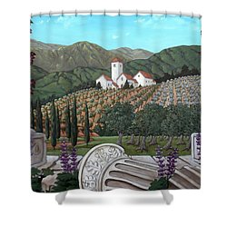 Somewhere In Tuscany Shower Curtain by Gerry High