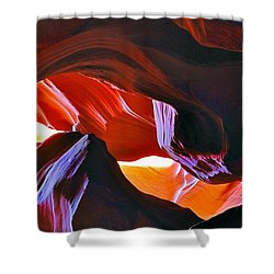 Shower Curtain featuring the photograph Somewhere In Waves In Antelope Canyon by Lilia D