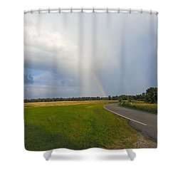 Somewhere Under The Rainbow Shower Curtain by Nick Kirby