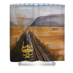 Somewhere West Of Corning Shower Curtain by Christopher Jenkins
