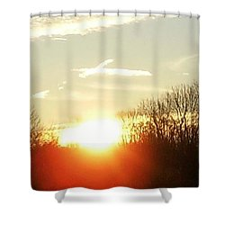 Son Above The Sun Shower Curtain by Nick Kirby