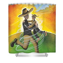 Son Light Shower Curtain by Patricia Sabree