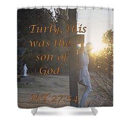 Son Of God Shower Curtain by Sharon Elliott