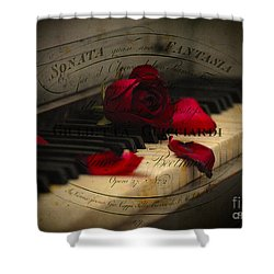 Sonata In Roses Shower Curtain